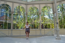 at the Palacio de Cristal (Crystal Palace) in Madrid's Buen Retiro Park