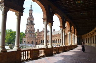 Plaza de España in Sevilla, Spain... again. It was so nice, I visited twice :3